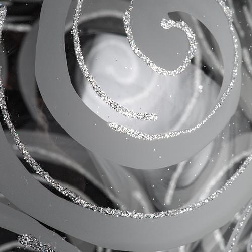Palla albero Natale vetro trasparente decori 15 cm 3