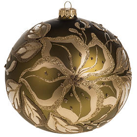 Christmas bauble, gold glass and decorations, 15cm s1