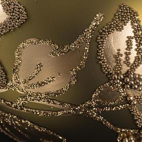 Palla albero Natale vetro trasparente oro 6 cm s3