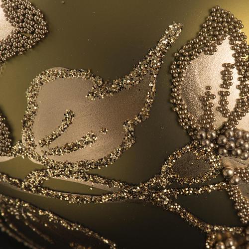 Palla albero Natale vetro trasparente oro 6 cm 3