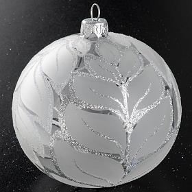 Palla albero Natale vetro trasparente opaco 10 cm s2
