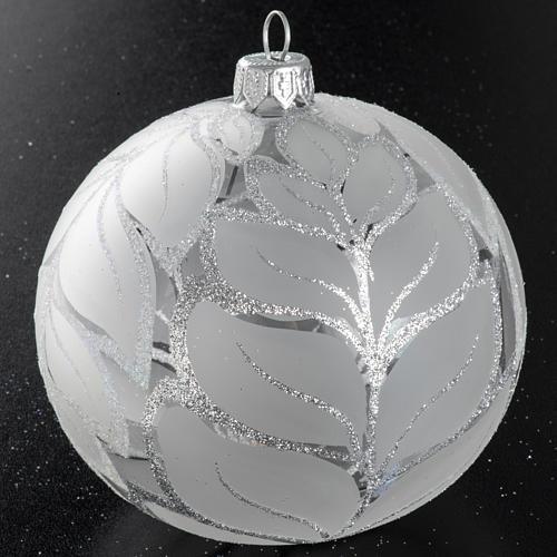 Palla albero Natale vetro trasparente opaco 10 cm 2