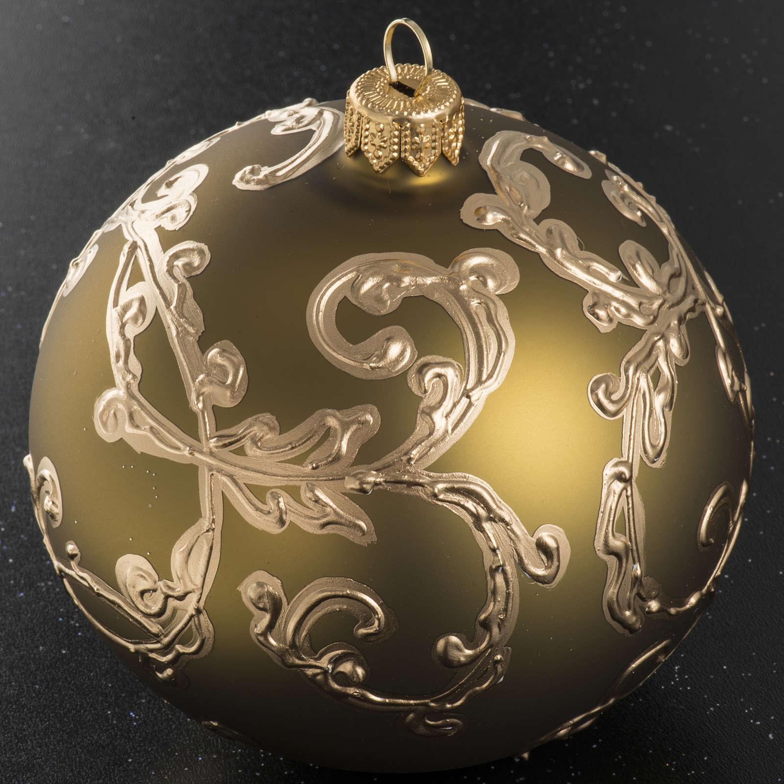Palla albero Natale oro decori 10 cm 4