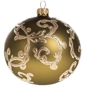 Palla albero Natale oro decori 10 cm s1