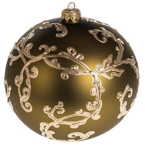 Palla Natale vetro soffiato oro decori 15 cm 1