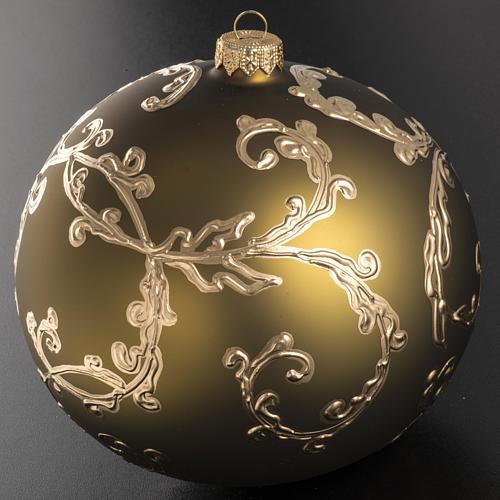 Palla Natale vetro soffiato oro decori 15 cm 2