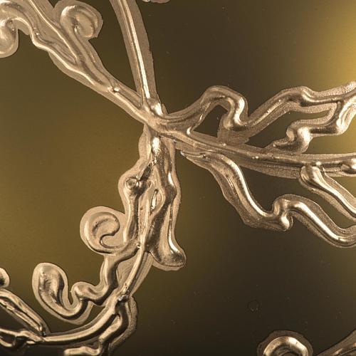 Palla Natale vetro soffiato oro decori 15 cm 3