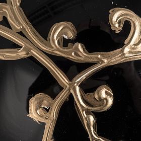 Boule de Noel verre soufflé noire décors dorés 15 cm s3