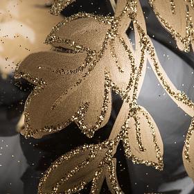 Palla Natale vetro trasparente decorazioni oro 10 cm s3