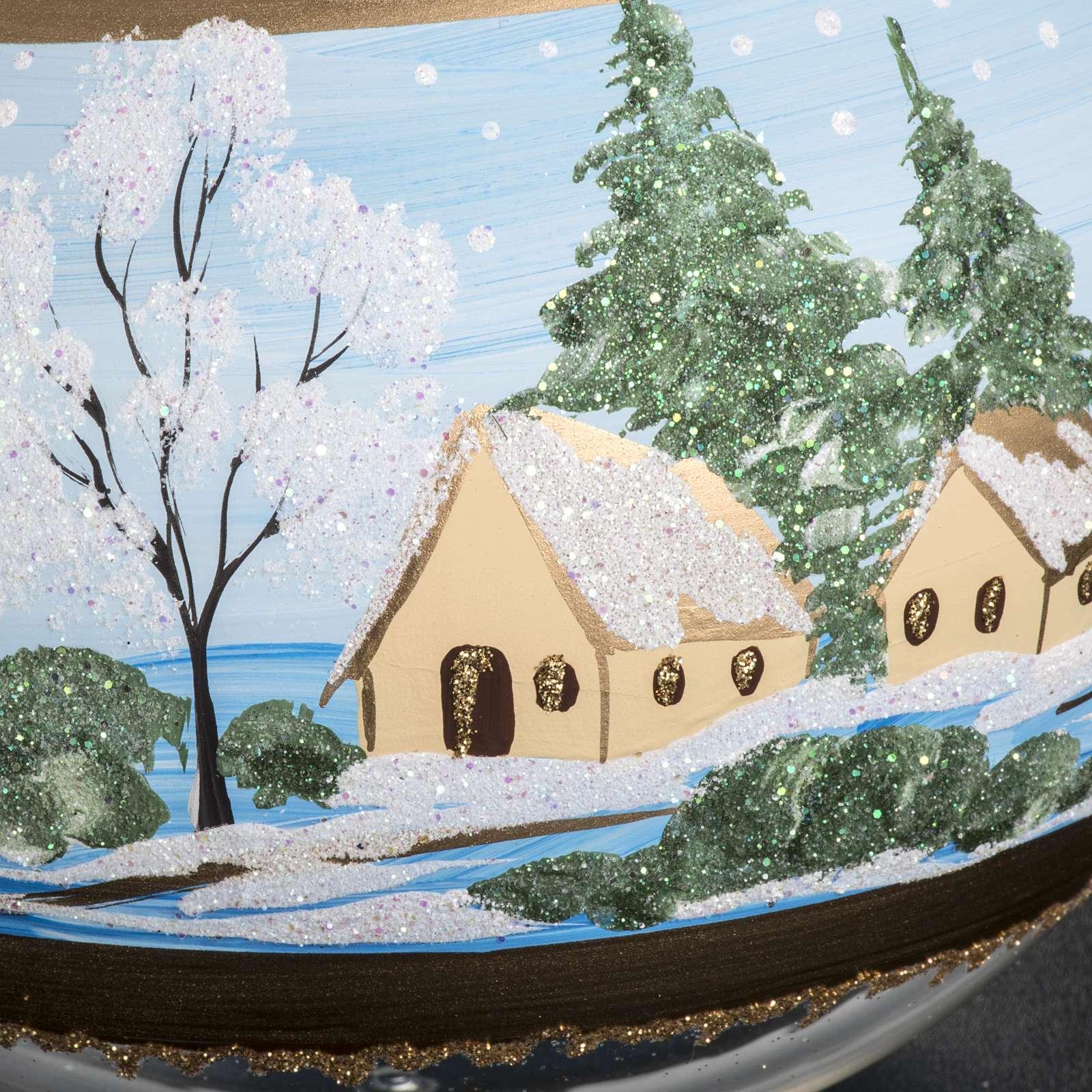 Tannenbaum Kugel Glas Schnee Landschaft 10cm 4