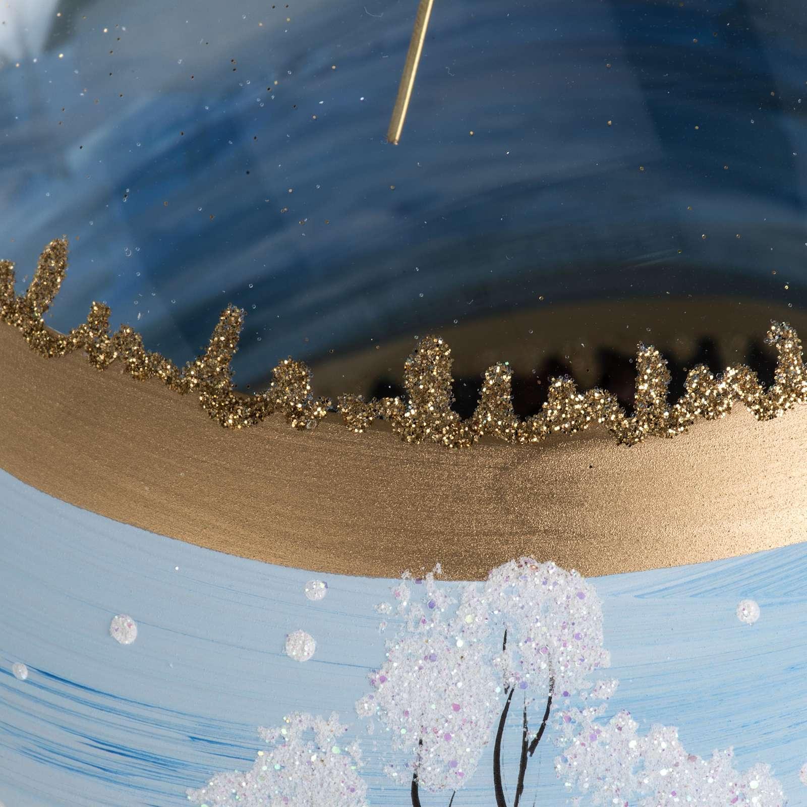 Addobbo albero Natale vetro paese con neve 10 cm 4