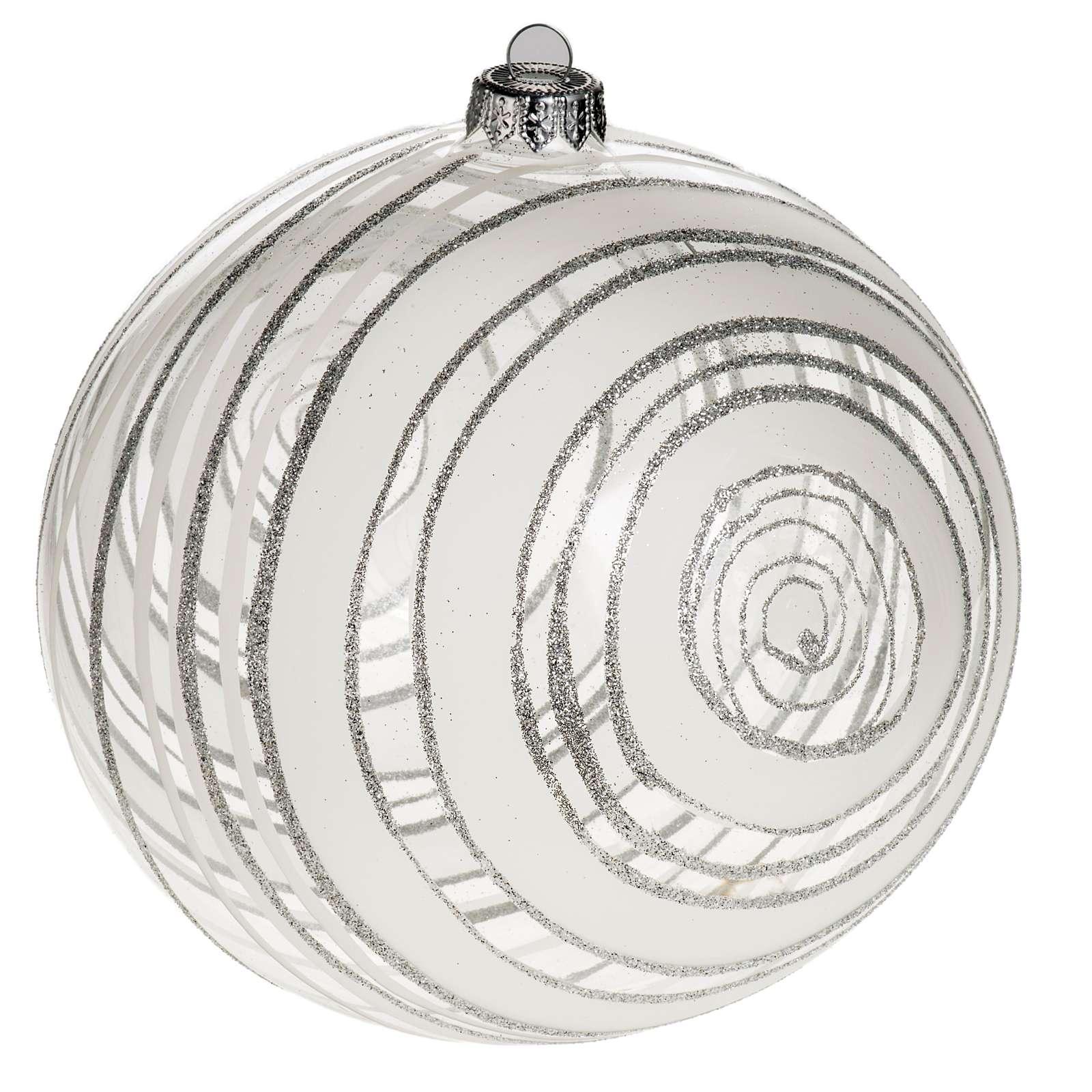 Adorno árbol de Navidad vidrio decoraciones plateadas 15 4