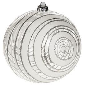 Adorno árbol de Navidad vidrio decoraciones plateadas 15 s1