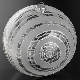 Adorno árbol de Navidad vidrio decoraciones plateadas 15 s2