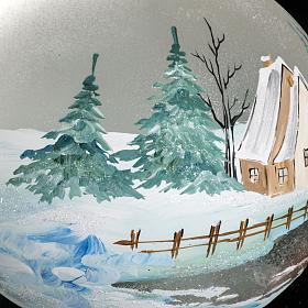 Addobbo albero Natale paesaggio paese 15 cm s4