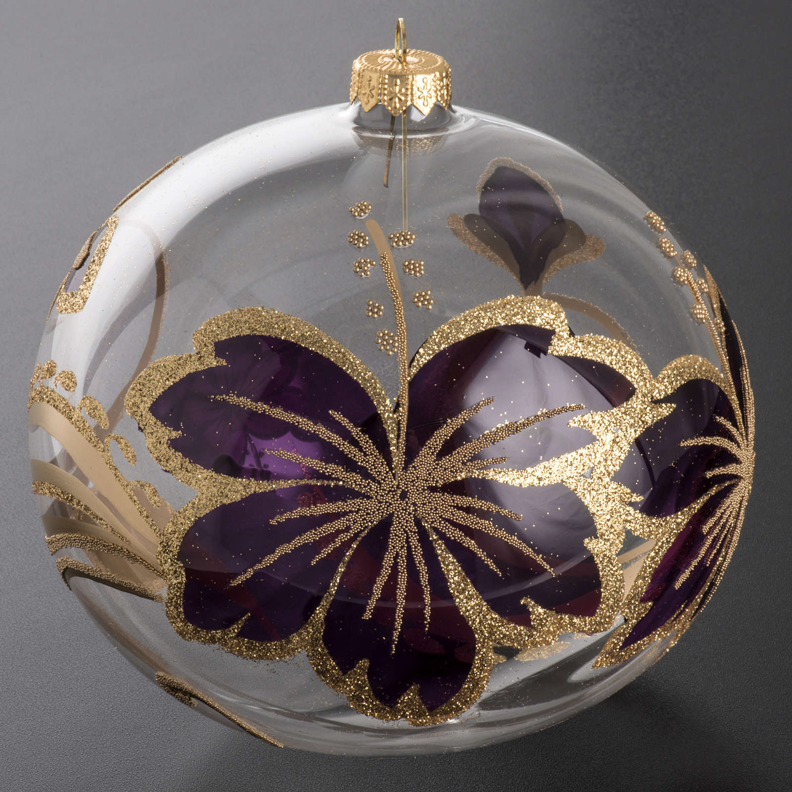 Christmas tree bauble gold and pink decorations, 15cm 4