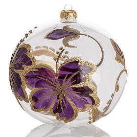 Christmas tree bauble gold and pink decorations, 15cm s1