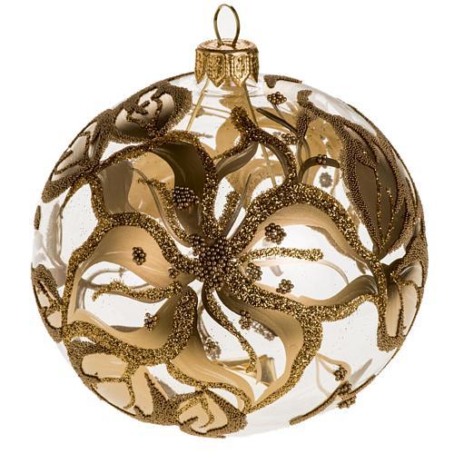 Addobbo albero vetro soffiato oro decori 10 cm 1