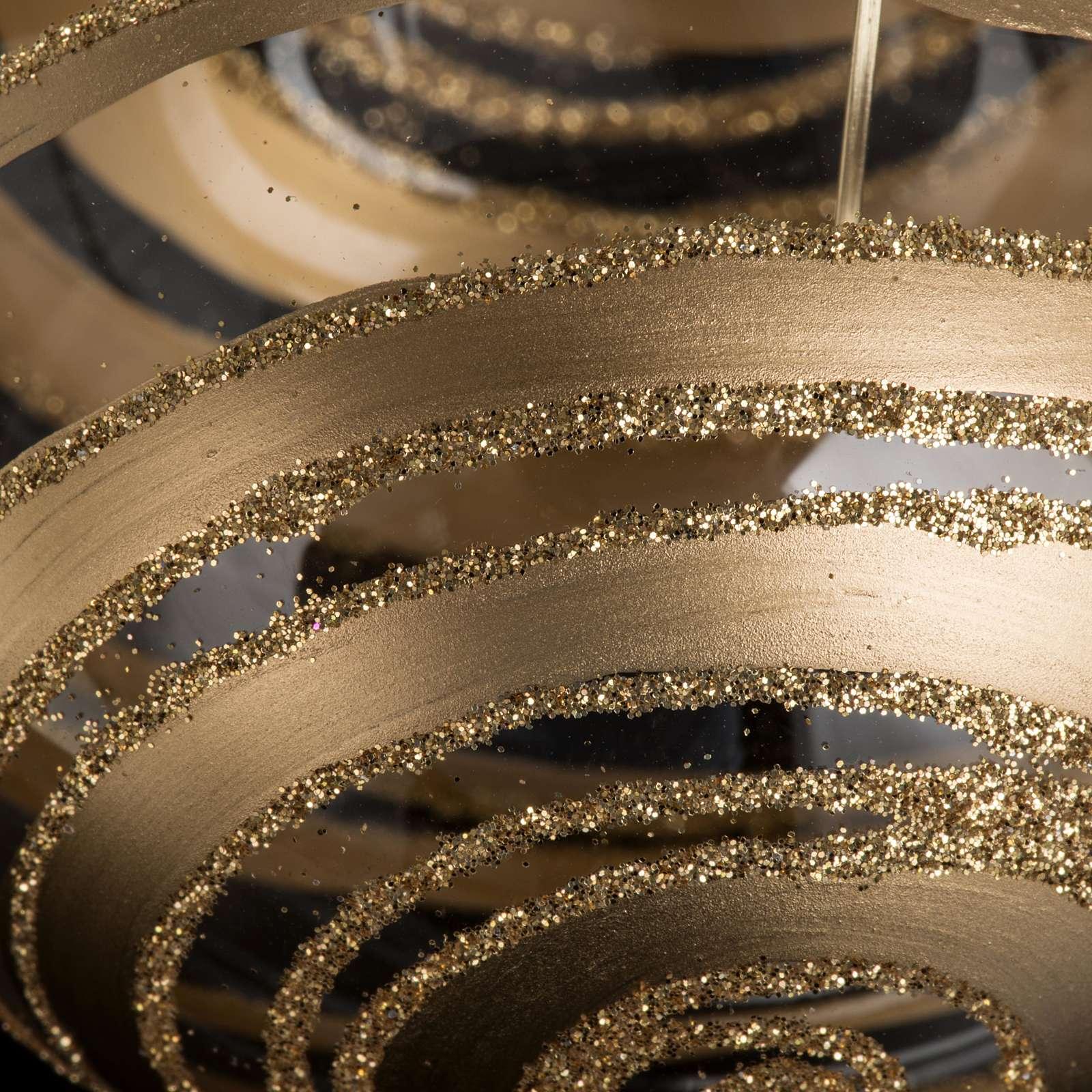 Décoration sapin verre décors or 8cm 4