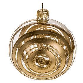 Décoration sapin verre décors or 8cm s1