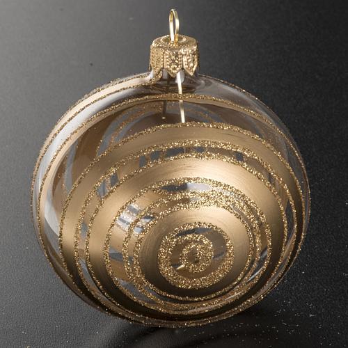 Décoration sapin verre décors or 8cm 2