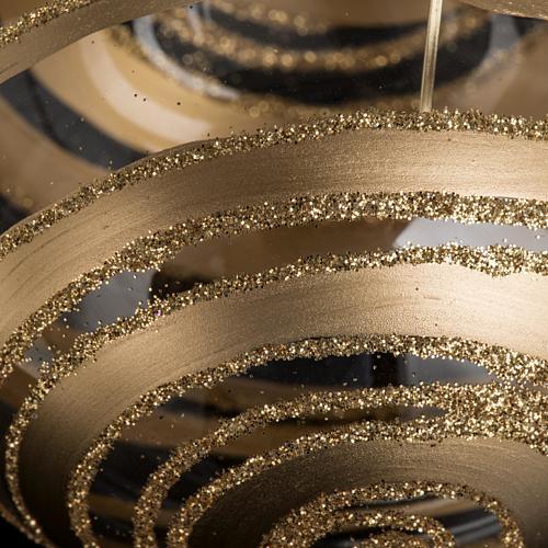 Addobbo albero vetro soffiato decori oro 8 cm 3