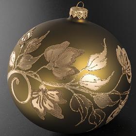 Addobbo albero vetro dorato dipinto 15 cm s3