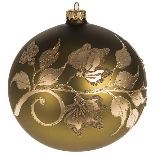 Addobbo albero vetro dorato dipinto 15 cm 1