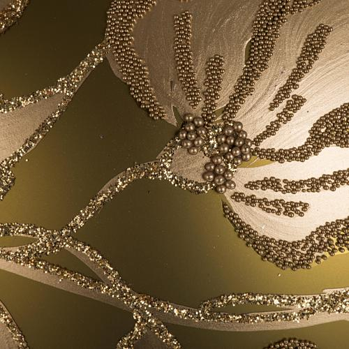 Addobbo albero vetro dorato dipinto 15 cm 2
