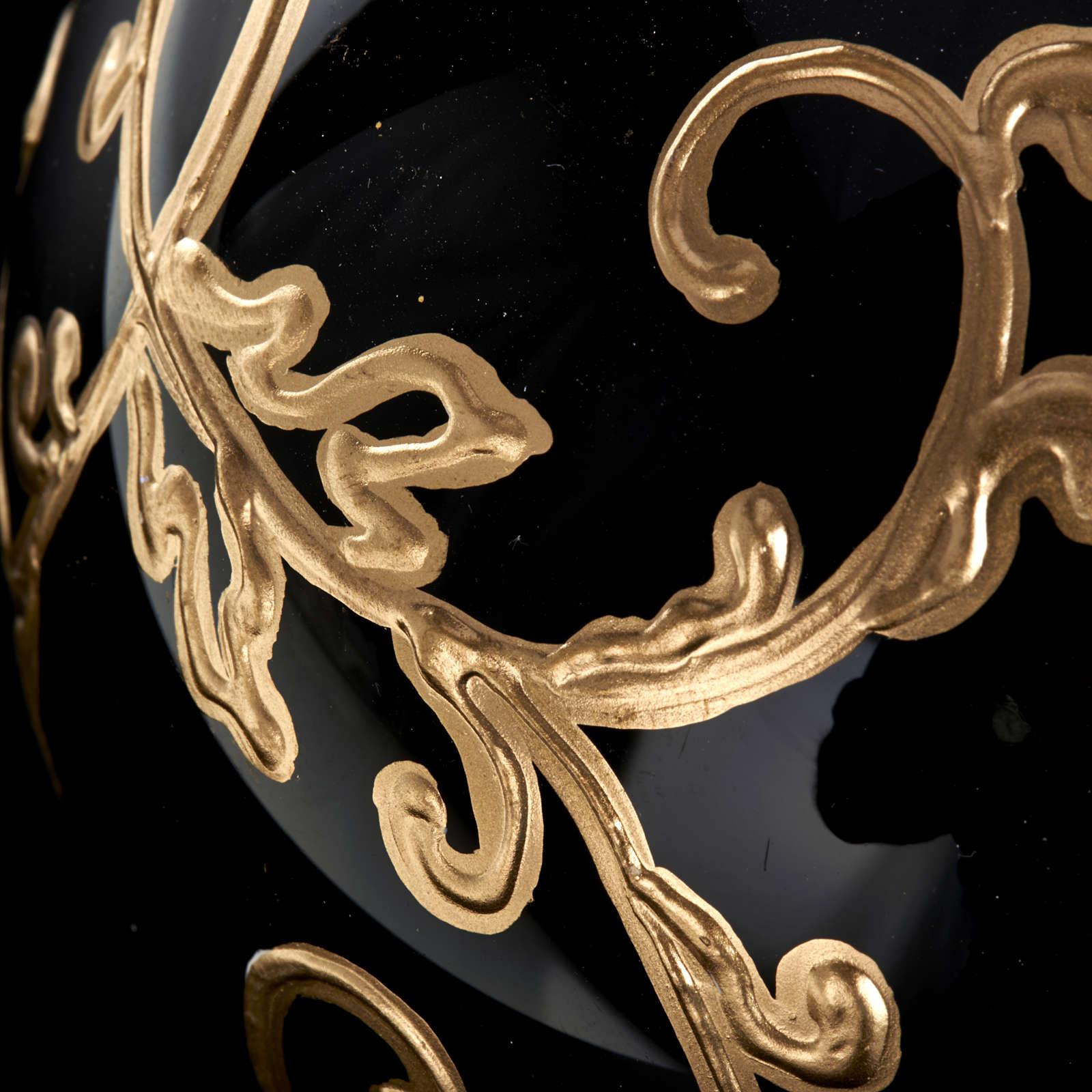Décoration sapin verre noire 10 cm 4