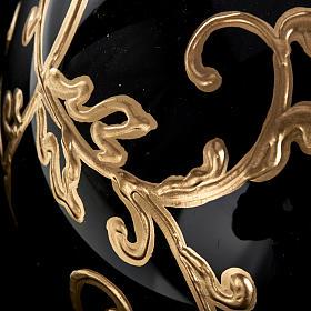 Décoration sapin verre noire 10 cm s5