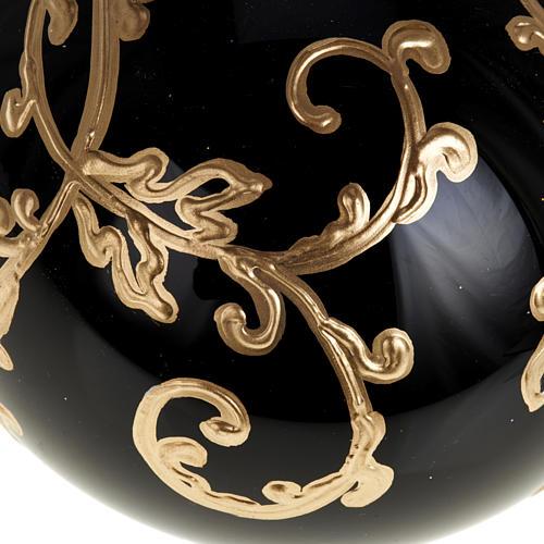 Décoration sapin verre noire 10 cm 3