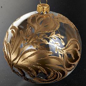 Decoro Albero Natale, palla vetro soffiato dorata 10 cm s2