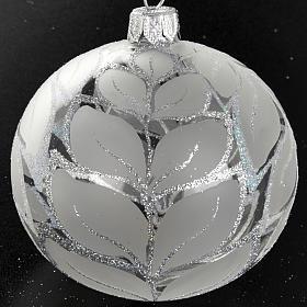 Decoro Albero Natale, palla vetro decori argentati 8 cm s2