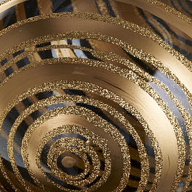 Ornement sapin en verre spirales or 15 cm s3