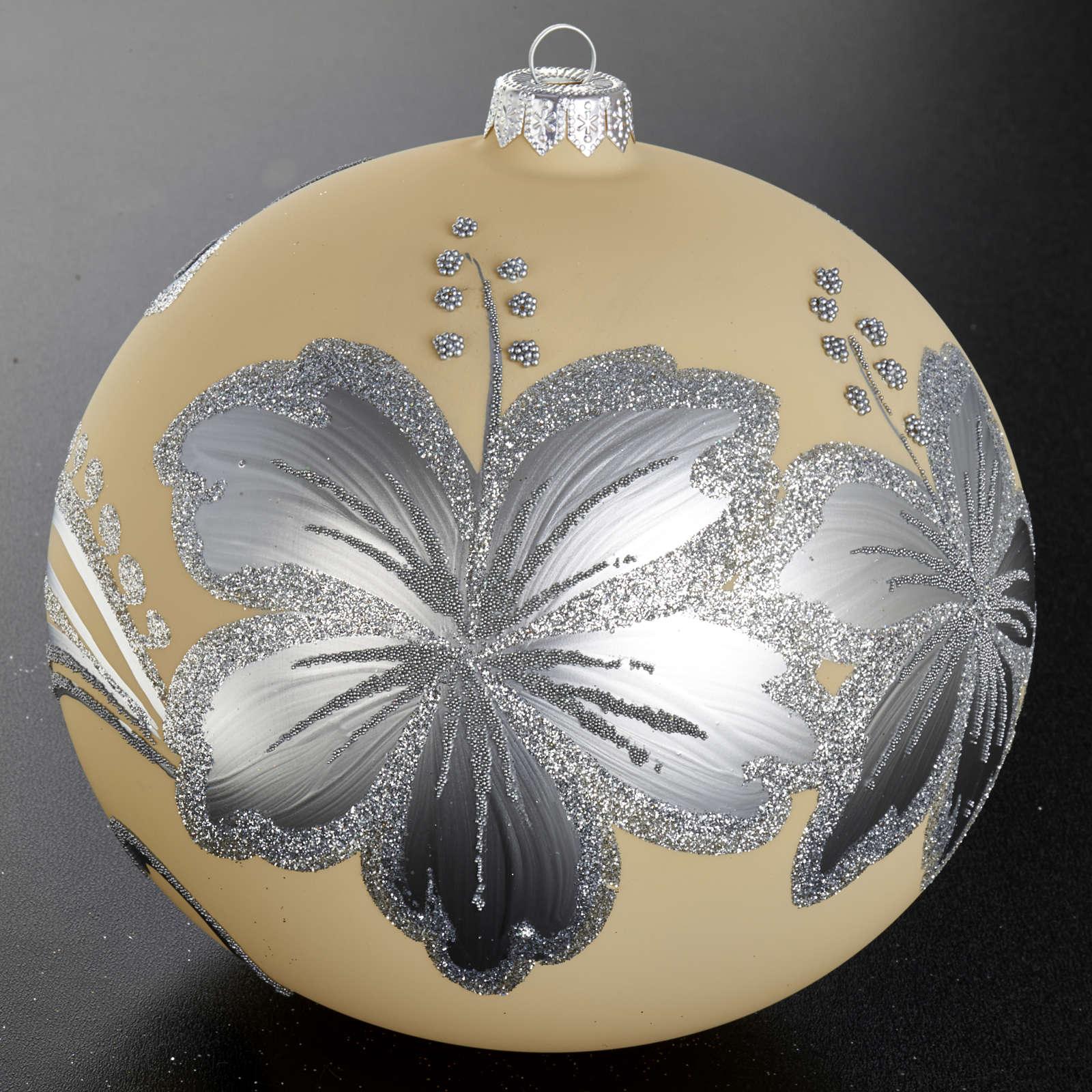 Decoro Albero Natale, palla vetro 15 cm 4