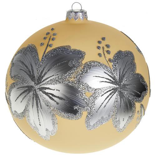 Decoro Albero Natale, palla vetro 15 cm 1