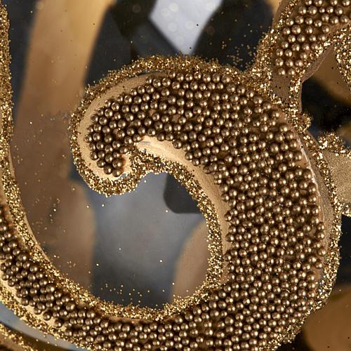 Decoro Albero Natale, palla vetro oro trasparente 15 cm 3