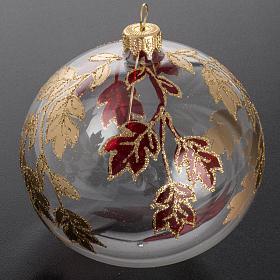 Adorno árbol, decorado en rojo dorado escarcha 10cm s2