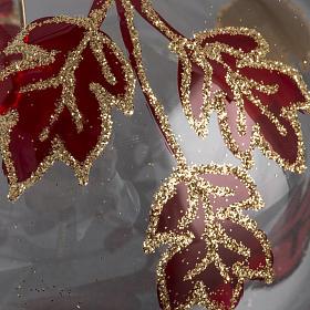 Adorno árbol, decorado en rojo dorado escarcha 10cm s3