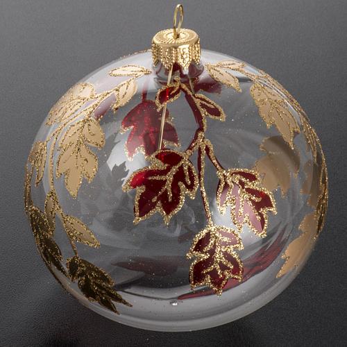 Adorno árbol, decorado en rojo dorado escarcha 10cm 2