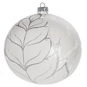 Palla Natale per albero vetro argento 15 cm s1