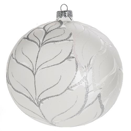 Palla Natale per albero vetro argento 15 cm 1