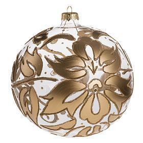 Palla Natale per l'albero vetro soffiato oro 15 cm s1