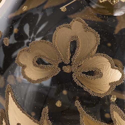 Palla Natale per l'albero vetro soffiato oro 15 cm 4