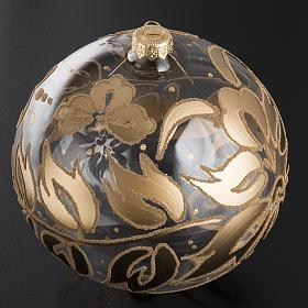 Bauble for Christmas tree in blown glass, gold 15cm s2