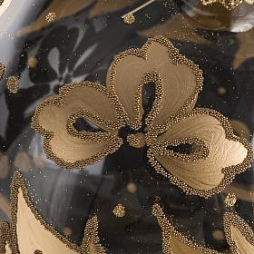Bauble for Christmas tree in blown glass, gold 15cm s4
