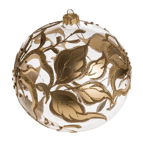 Palla Natale per albero vetro decori fiori 15 cm 1