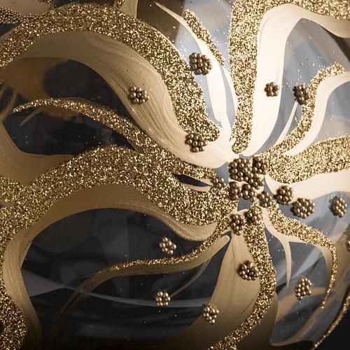 Palla Natale per albero vetro decori fiori 15 cm 4