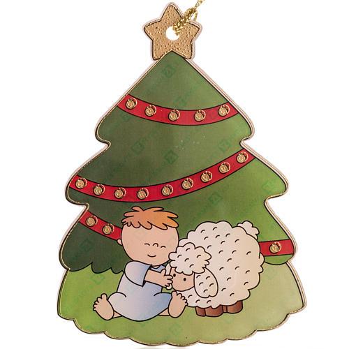 Décoration Sapin de Noel enfant et brebis 1
